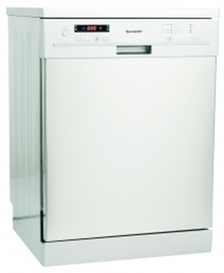 sharp dehumidifier. picture of sharp qwf471w sharp white full size dishwasher dehumidifier