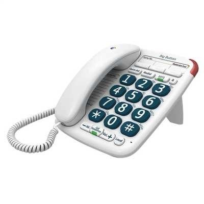 Picture of BT BIG BUTTON CORDED PHONE WHITE