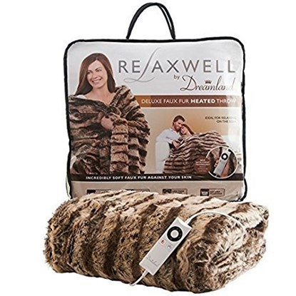 Picture of DREAMLAND RELAXWELL DELUXE FAUX FUR HEATED BLANKET