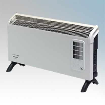 Picture of Dimplex DXC30FTI Contrast White/Graphite Grey Portable Convector Heater With Thermostat, 24 Hour Timer & Turbo Boost 3.0kW