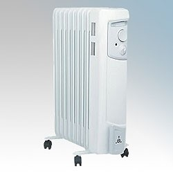 Picture of Dimplex OFC2000 OFC Range 9 Fin Oil Filled Electric Radiator With Thermostat & Choice Of Heat Settings 2.0kW