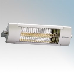 Picture of Dimplex OPH20 OPH Range Aluminium Outdoor Quartz Halogen Patio Heater With Fitted Guard IP24 2.0kW