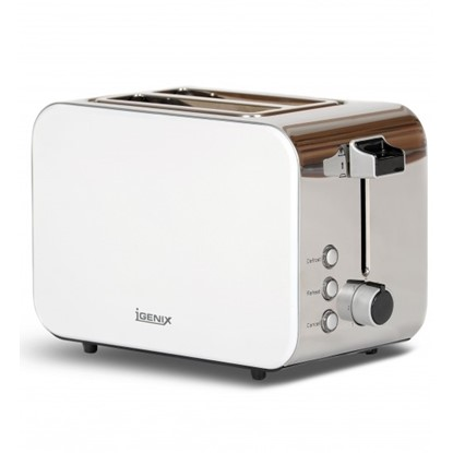 Picture of Igenix IG3202C 2 Slice Toaster – Metallic Cream and Polished Stainless Steel