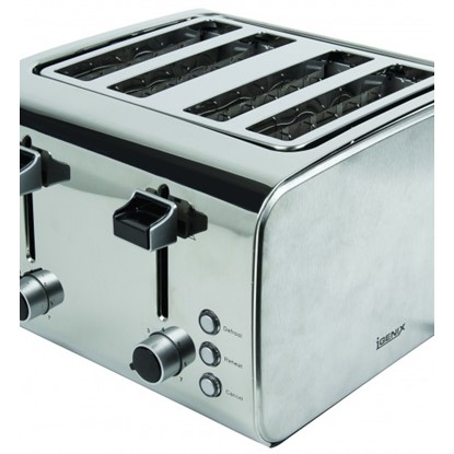 Picture of Igenix IG3204 4 Slice Toaster – Brushed and Polished Stainless Steel