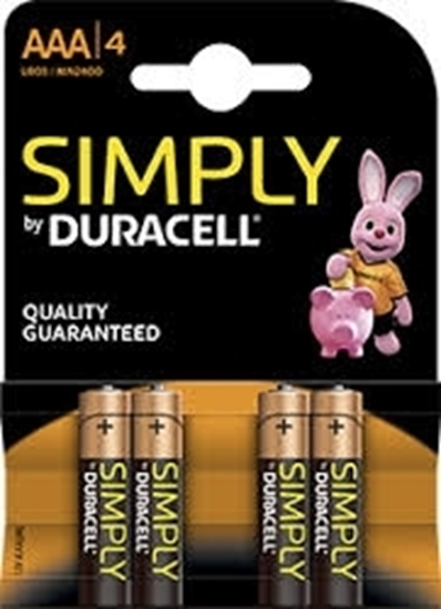 Picture of DURACELL SIMPLY AAA ALKALINE BATTERY 4PACK